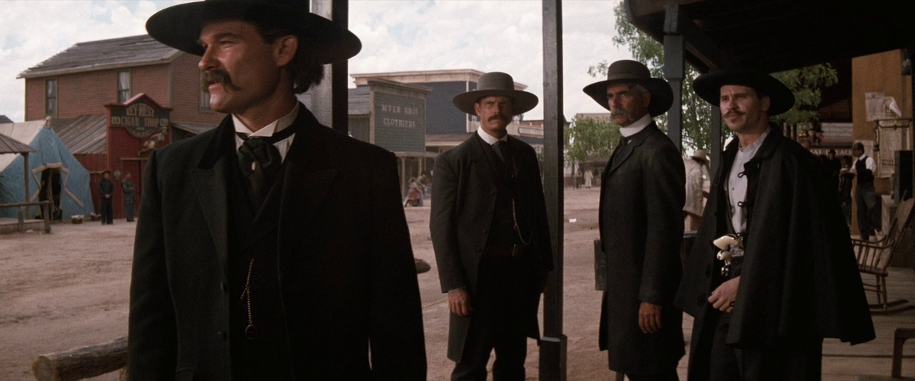 an analysis of the western movie tombstone Legendary marshal wyatt earp, now a weary gunfighter, joins his brothers morgan and virgil to pursue their collective fortune in the thriving mining town of tombstone.